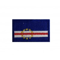 1356 Embroidered patch 6X3,7 flag CAPE VERDE
