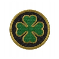 1099 Embroidered patch 5X5 OSSA clover