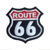 1380 Patch emblema bordado 6X6 ROUTE 66