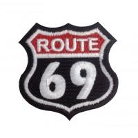 1381 Patch emblema bordado 6X6 ROUTE 69