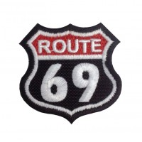 1381 Embroidered patch 6X6 ROUTE 69
