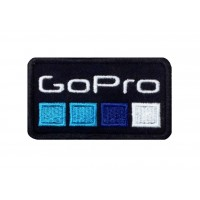1382 Patch emblema bordado 8x6 GO PRO