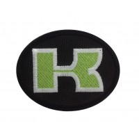 1383 Embroidered patch 9X7 KAWASAKI