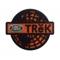 1386 Patch emblema bordado 9x5 LAND ROVER TREK