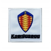 1388 Patch emblema bordado 7x7 KOENIGSEGG