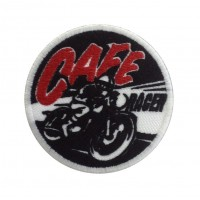 1389 Embroidered patch 7x7 CAFE RACER
