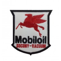 1392 Embroidered patch 8x8 MOBIL OIL SOCONY VACUUM