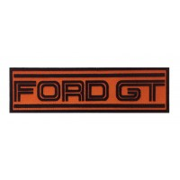 1399 Embroidered patch 22X7 FORD GT orange
