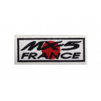 0606 Embroidered patch 10x4 MAZDA MX-5 FRANCE