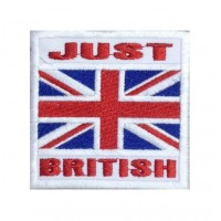 1408 Embroidered patch 7x7 JUST BRITISH UNION JACK flag
