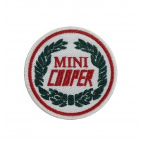 1414 Embroidered patch 7x7 MINI COOPER