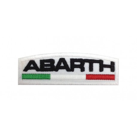 0319 Embroidered patch 8X3 ABARTH ITALY