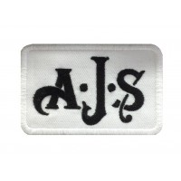 1417 Embroidered patch 9x5  AJS  A. J. Stevens & Co. Ltd