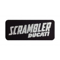 1429 Embroidered patch 10x4 DUCATI SCRAMBLER