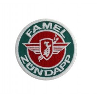 1436 Patch emblema bordado 7x7 FAMEL  ZUNDAPP