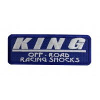 1441 Embroidered patch 10x4 KING OFF ROAD RACING SHOCKS