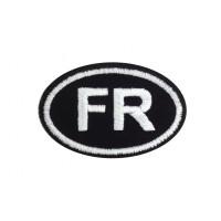 0404 Patch emblema bordado 8X5 FR FRANÇA