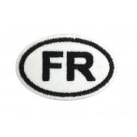 1450 Patch emblema bordado 8X5 FR FRANÇA