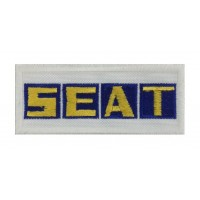 0867 Embroidered patch 10x4 SEAT