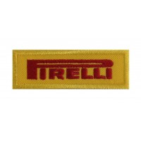 0941 Patch emblema bordado 8X3 PIRELLI amarelo