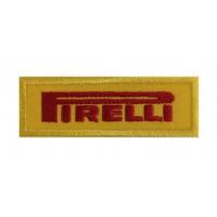 0941 Parche emblema bordado 8X3 PIRELLI amarillo