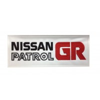 0295 Embroidered patch 24x10 NISSAN PATROL GR