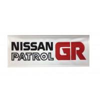0295 Patch écusson brodé 24x10 NISSAN PATROL GR