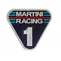 0701 Patch écusson brodé 10x10 MARTINI RACING Nº 1
