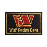 1462 Embroidered patch 10x6 WOLF RACING CARS