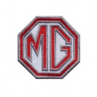 1463 Embroidered patch 6X6 MG MOTOR MORRIS GARAGES