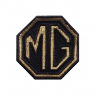 1464 Embroidered patch 6X6 MG MOTOR gold MORRIS GARAGES