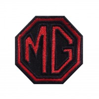 1466 Patch écusson brodé 6X6 MG MOTOR MORRIS GARAGES