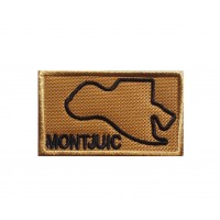 1469 Embroidered patch 7x4 CIRCUIT MONTJUIC BARCELONA SPAIN