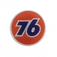 0186 Embroidered patch 7x7 UNION 76 Vespa
