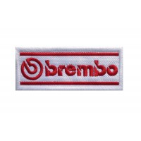1473 Embroidered patch 10x4 BREMBO