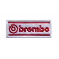 1473 Patch emblema bordado 10x4 BREMBO