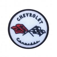 1475 Patch emblema bordado 7x7 CHEVROLET CORVETTE 1953