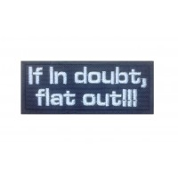 1490 Embroidered patch 10x4 IF IN DOUBT , FLAT OUT !!! COLIN MCRAE
