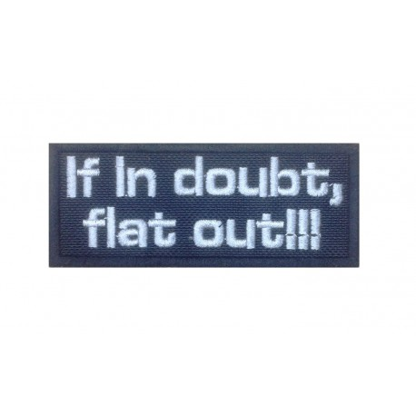 1490 Patch emblema bordado 10x4 IF IN DOUBT , FLAT OUT !!! COLIN MCRAE