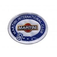 1499 Patch écusson brodé 8x6 MARTINI INTERNATIONAL CLUB