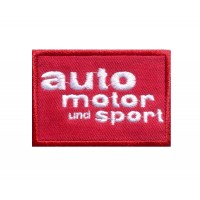 1502 Embroidered patch 8X5 AUTO MOTO und SPORT