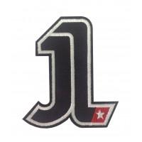 0390 Patch emblema bordado 11X9 JORGE LORENZO Nº1 MOTOGP CHAMPION