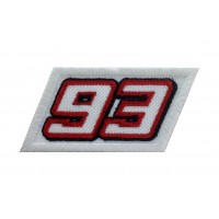 1511 Embroidered patch 8x4  Nº 93 MARC MARQUEZ