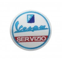0491 Embroidered patch 8x8 Vespa SERVIZIO