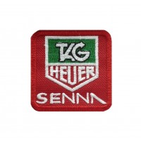 0417 Patch emblema bordado 6X6 TAG HEUER AYRTON SENNA