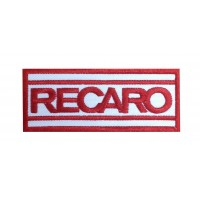 0216 Embroidered patch 10x4 RECARO