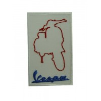Embroidered patch 10x6 Vespa
