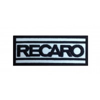 0090 Embroidered patch 10x4 RECARO
