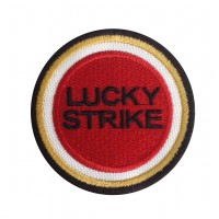 0128 Embroidered patch 7x7 LUCKY STRIKE