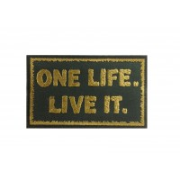 1301 Patch emblema bordado 10x6 LAND ROVER ONE LIFE LIVE IT